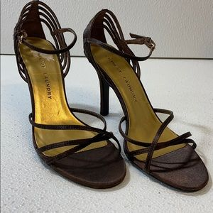 Chinese Laundry Brown Strap 4 inch heels